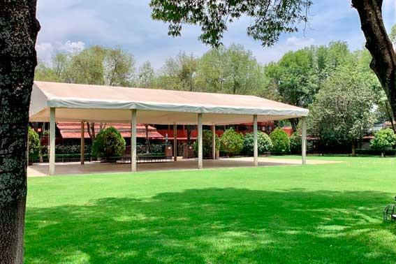 jardines y salones para eventos, Hacienda del Río Escoffier Banquetes vista del salón