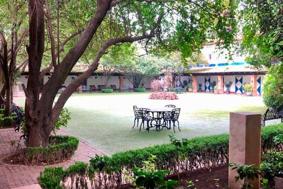 Venue Banquetes Escoffier, Hacienda San Andrés Jardín interior