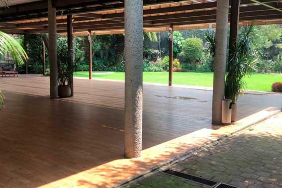 Venue Banquetes escoffier. Jardín Azteca vista del salón