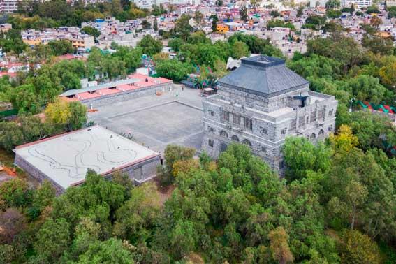 Banquetes Escoffier Venue Museo Anahuacalli vista aérea