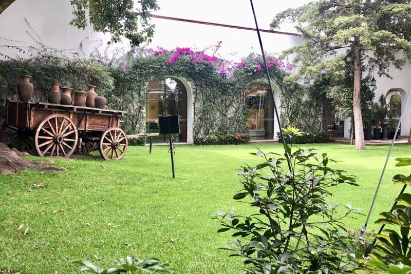 Jardines y salones para eventos Escoffier vista del jardín Hacienda San Fernando
