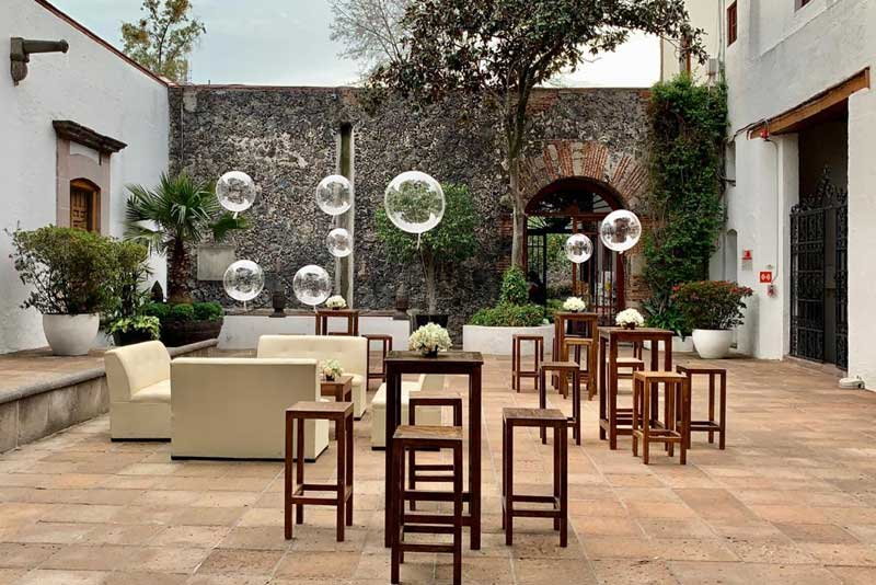 Banquetes para eventos Escoffier, mobiliario Lounge